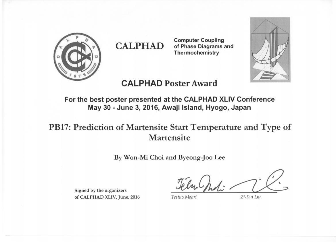 2016 CALPHAD Poster Award.png