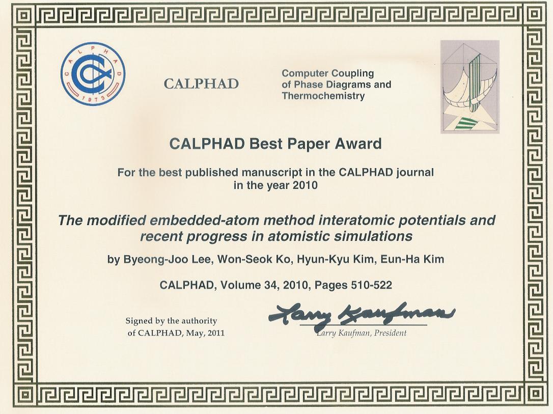 CALPHAD Paper Award.JPG